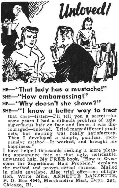 shaving advert